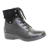 Women's Dromedaris River Ankle Boot Black Leather