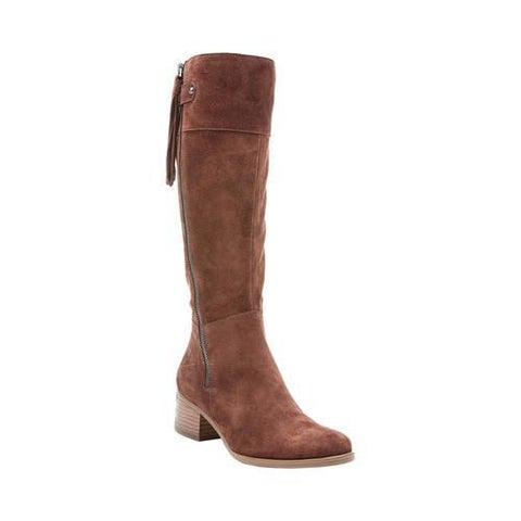 Women's Naturalizer Demi Wide Calf Knee Boot Chocobar Oily Suede