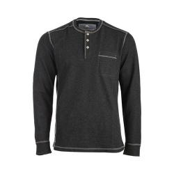 Men's Tommy Bahama Island Thermal Henley Shirt Charcoal Heather