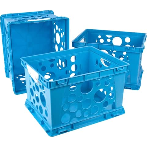Storex Premium File Crate with Handles / 5 Colors Options