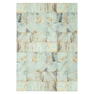 Maxy Home Valencia Contemporary Vanilla Marble 2 ft. 7 in. x 4 ft. 11 in. Area Rug - 2'7 x 4'11