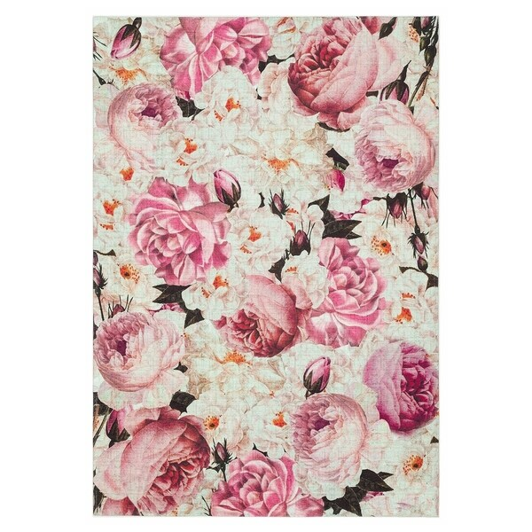 Shop Maxy Home Valencia Contemporary Roses 2 Ft 7 In X 4 Ft 11 In