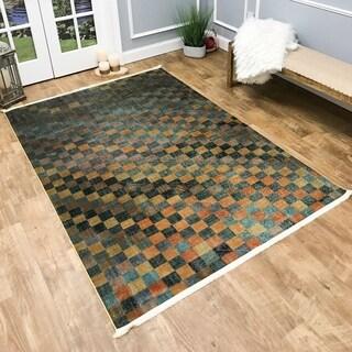 Maxy Home Serica Contemporary Amber Tiles Area Rug
