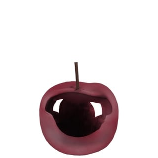 Urban Trends Ceramic Apple Figurine with Stem in Polished Chrome Finish, Small - Purple