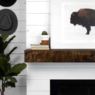 Rough Hewn Fireplace Mantel Shelf (More options available)