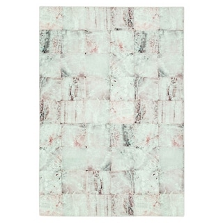 Maxy Home Valencia Contemporary Rose Marble 2 ft. 7 in. x 4 ft. 11 in. Area Rug - 2'7 x 4'11