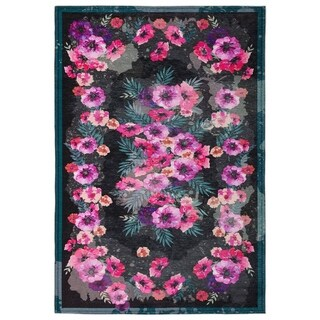 Maxy Home Valencia Contemporary Dark Floral 2 ft. 7 in. x 4 ft. 11 in. Area Rug - 2'7 x 4'11