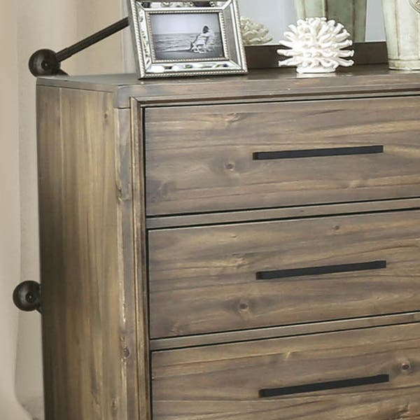 Cody Rustic Light Oak 6 Drawer 2 Piece Dresser And