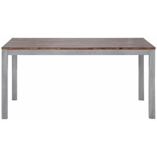Congo 64-inch Acacia Wood Metal Dining Table