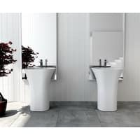 "Trinity 25"" Solid Surface Pedestal Sink"