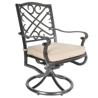 Veranda Classics Harmony Swivel Dining Chairs (Set of 2)