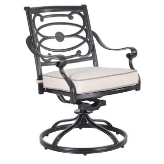 Veranda Classics Carmen Swivel Dining Chairs (Set of 2)