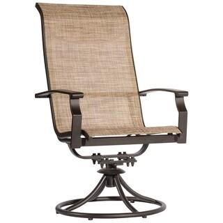 Veranda Classics Peninsula Sling Swivel Rocker Chair (Set of 2)