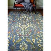Clifton Blue Transitional  Area Rug - 5' x 7'6""