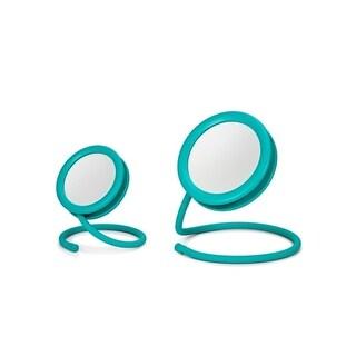 Joy Mangano set of 2 Handy Hook Mirrors Teal