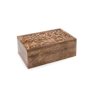 Handmade Aranyani Mango Wood Treasure Box (India)