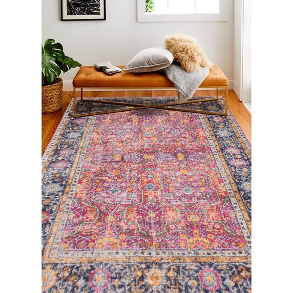 "Nico Fuchsia Transitional Area Rug - 8'7"" x 11'6"""