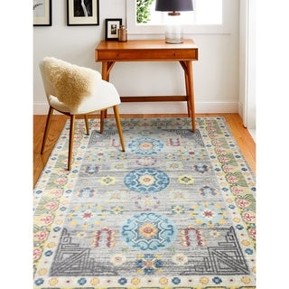 """Grover Grey Transitional  Area Rug - 7'6"""" x 9'6"""""""