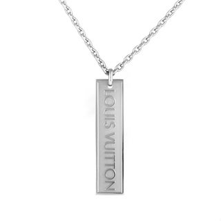 Louis Vuitton White Gold Pendant Necklace