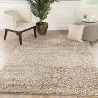 Lindstrand Handmade Solid Tan/ Light Gray Area Rug - 9' x 13'