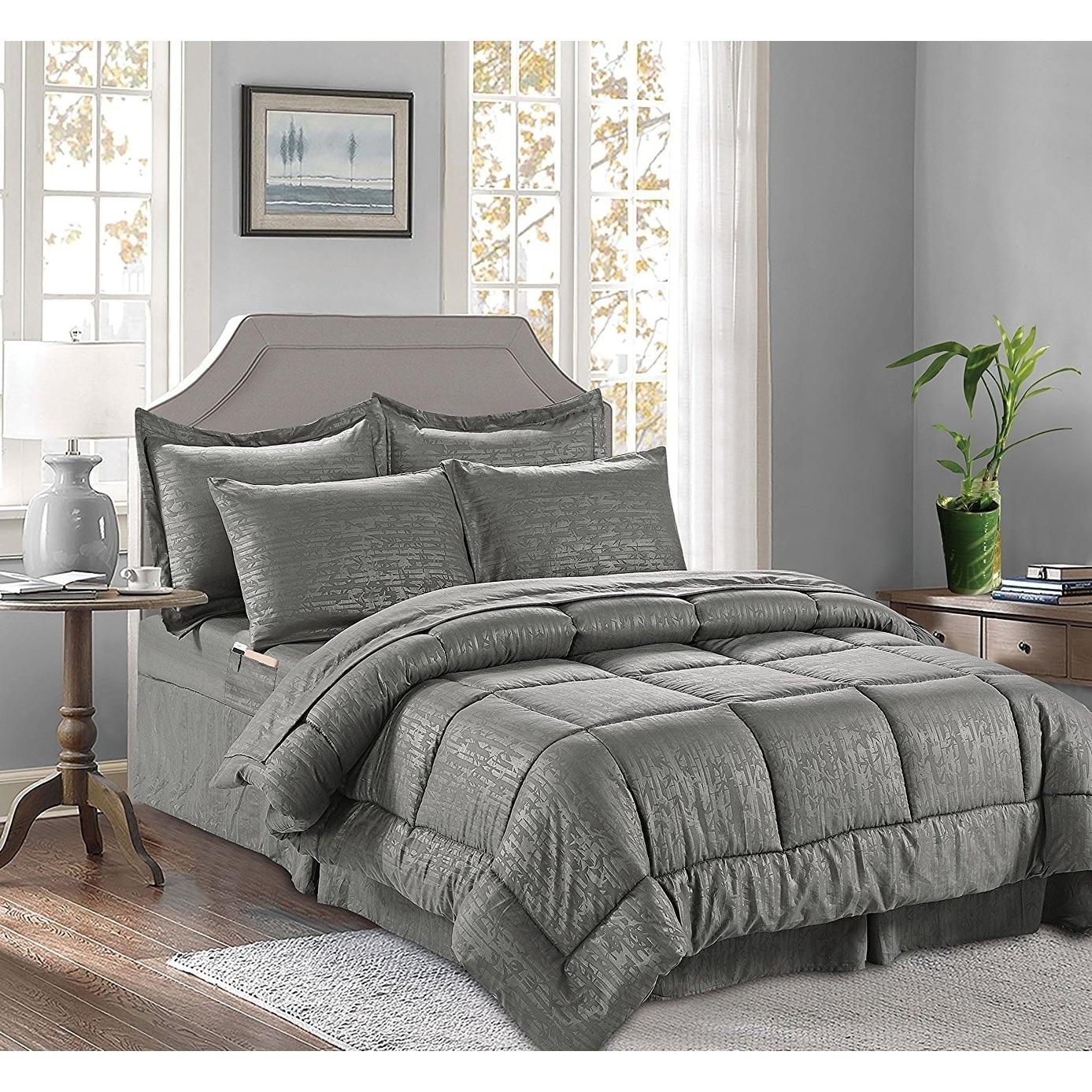 Double Full Light Blue Bamboo 6 Piece Bedding Super Soft Wrinkle Free Sheet Set