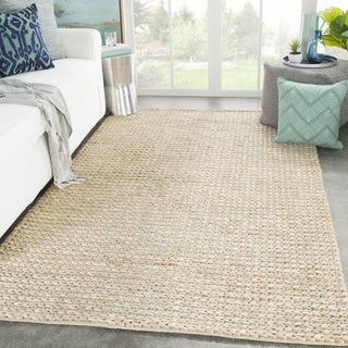 Cyanic Natural Solid Tan/ Greige Area Rug - 2' x 3'