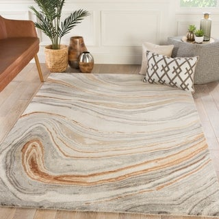 Hammet Handmade Abstract Copper/ Gray Area Rug - 5' x 8'