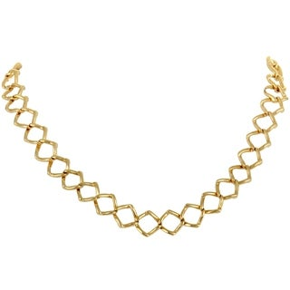 Pre-Owned Tiffany & Co. Paloma Picasso Yellow Gold Square Link Collar Necklace