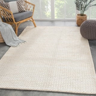 """Cyanic Natural Solid White Area Rug - 7'10"""" x 9'10"""""""
