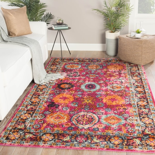 Shop Quince Medallion Pink Orange Area Rug 5 3 X 7 6 On Sale