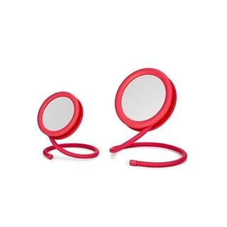 Joy Mangano set of 2 Handy Hook Mirrors Fuchsia Pink