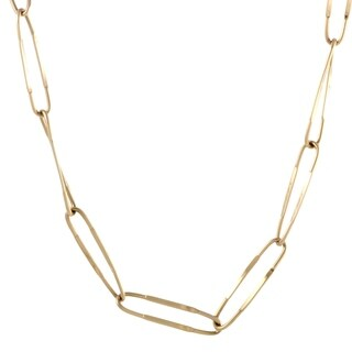 Pomellato Long Yellow Gold Oval Link Necklace