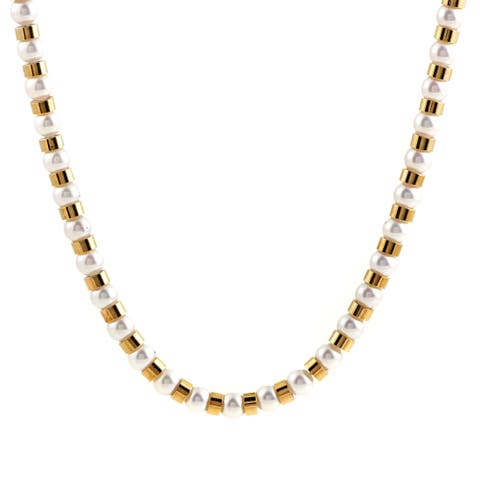Chanel Womens Baroque Yellow Gold Pearl Beads Long Strand Necklace