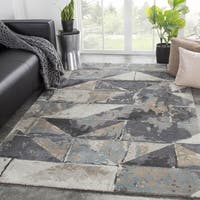 Juniper Home Stowe Handmade Geometric Grey/Taupe Area Rug - 9' x 13'