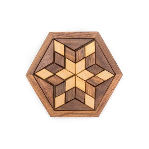 Handmade Wooden Star Puzzle (India)