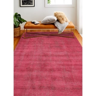 """Janis Red/Grey Contemporary  Area Rug - 7'6"""" x 9'6"""""""