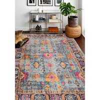 """Nate Teal Transitional  Area Rug - 7'7"""" x 9'6"""""""