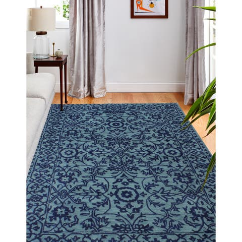 Elsie Contemporary Hand Tufted Area Rug