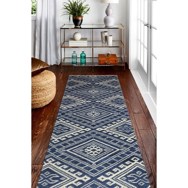 Argos Navy Transitional Area Rug 2 X27