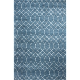 "Marilyn Azure Contemporary  Area Rug - 8'6"" x 11'6"""