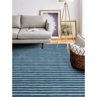 """Brentwood Azure Contemporary  Area Rug - 7'6"""" x 9'6"""""""