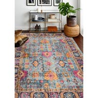 "Nate Teal Transitional  Area Rug - 8'7"" x 11'6"""
