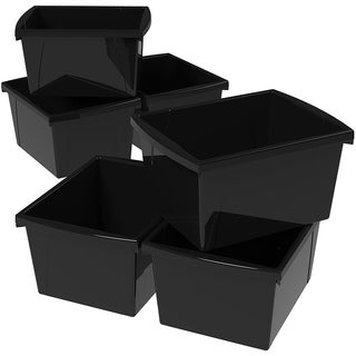 Storex 4 Gallon & 15L Classroom Storage Bin / 4 Colors Options (6 units/pack)