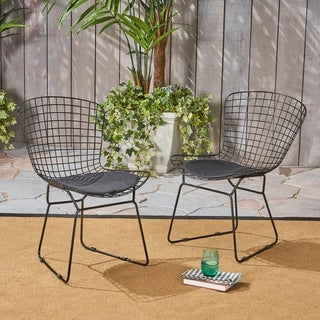 """Link to Tyson Outdoor Chairs (Set of 2) by Christopher Knight Home - 24.50""""D x 21.00""""Wx 31.25""""H Similar Items in Dining Room & Bar Furniture"""