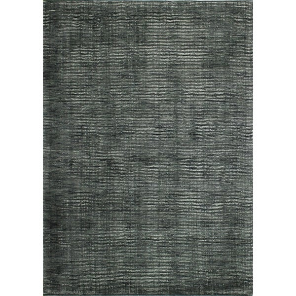 """Janis Grey/Ivory Contemporary Area Rug - 8'6"""" x 11'6"""""""
