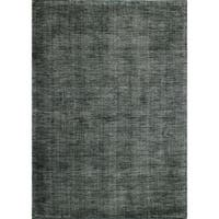 "Janis Grey/Ivory Contemporary  Area Rug - 8'6"" x 11'6"""