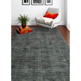 """Janis Grey/Ivory Contemporary  Area Rug - 7'6"""" x 9'6"""""""