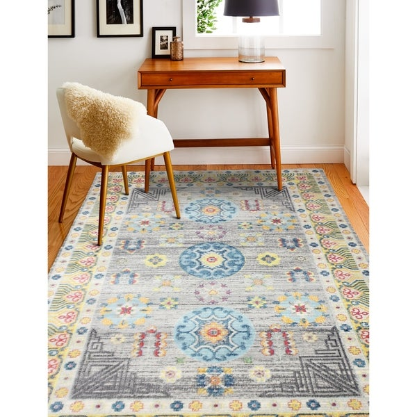 "Grover Grey Transitional Area Rug - 3'6"" x 5'6"""
