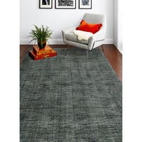 Janis Grey/Ivory Contemporary  Area Rug - 5' x 7'6""