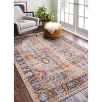 """Nate Grey Transitional Area Rug - 3'8"""" x 5'6"""""""